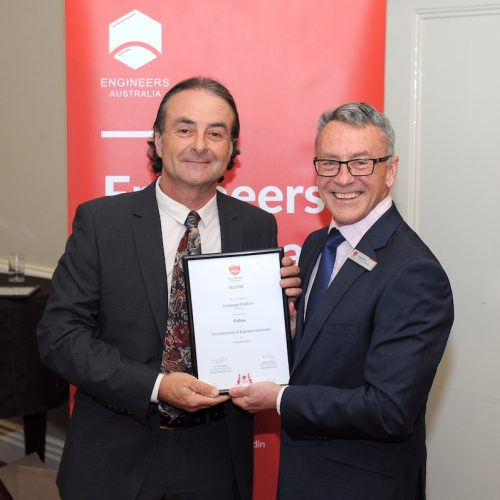 Congratulations Joe on being elected a Fellow of The Institute of Engineers Australia